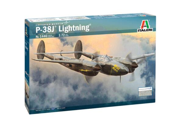 1:72 Scale Italeri P-38J Lightning Plane Model Kit #1689