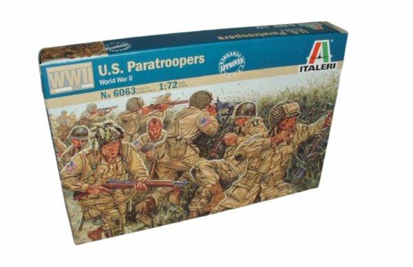 1:72 Scale Italeri WW2 Diorama Models - U.S. Paratroopers # 1719