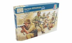 1:72 Scale Italeri WW2 Diorama Models - German Afrikakorps # 1717