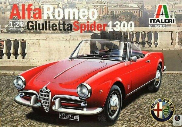 1:24 Scale Italeri Alfa Romeo Giulietta Spider 1300 Model Kit #1693