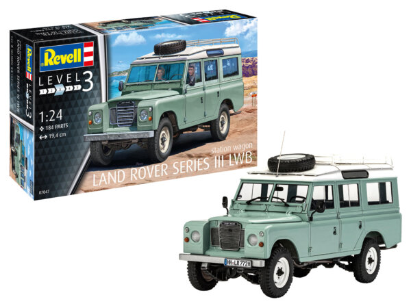 1:24 Scale Revell Land Rover Series III LWB #1700