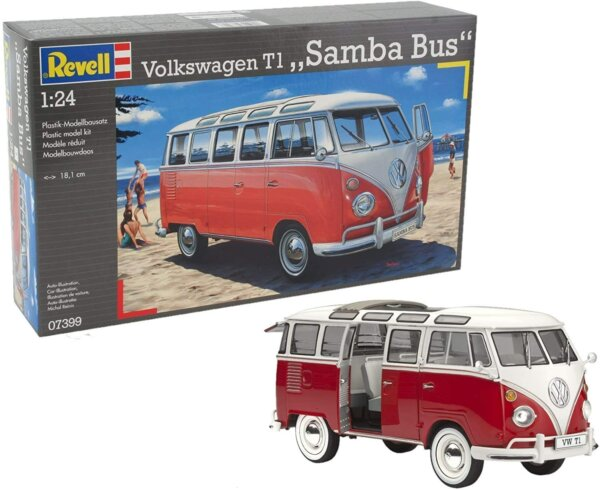 1:24 Scale Revell VW Samba Bus (Beach) #1701
