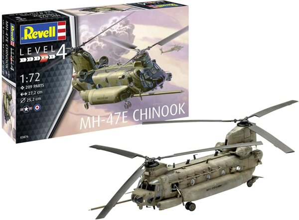 Revell 1:72 Scale MH-47 Chinook Model Kit #1708