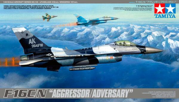1:48 Scale Tamiya F-16 C/N AGGRESSOR Model Kit #1709