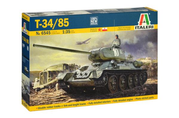 1:35 Scale Italeri T-34/85 Tank Model Kit # 1725