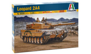 1:35 Scale Italeri Leopard 2A6 Model Kit # 1729