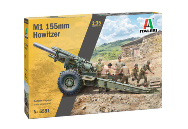 1:35 Scale Italeri M1 155mm Howitzer With Crew  Model Kit # 1728