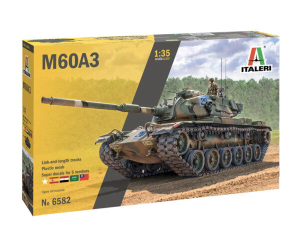 1:35 Scale Italeri M60A3 Tank Model Kit #