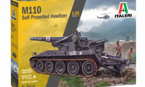1:35 Scale Italeri M110 Self Propelled Howitzer Model Kit # 1727