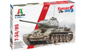 1:35 Scale Italeri T-34/85 Korean War Tank Model Kit #