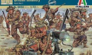 1:72 SCALE ITALERI WW2 DIORAMA MODELS – BRITISH INFANTRY # 1718