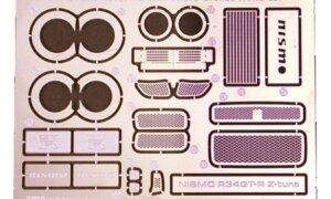 1:24 Scale Tamiya Nismo R34 GT-R Z-Tune Photo Etched Parts #