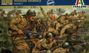 1:72 Scale Italeri WW2 Diorama Models – Russian Infantry #1715