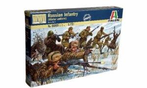 1:72 Scale Italeri WW2 Diorama Models - Russian Infantry (Winter Uniform) #1714