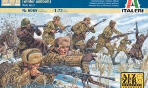 1:72 SCALE ITALERI WW2 DIORAMA MODELS – RUSSIAN INFANTRY (WINTER UNIFORM) # 1714