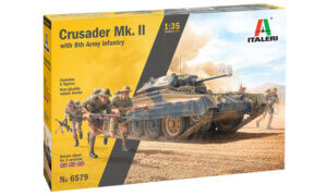 1:35 Scale Italeri Crusader MK II With 8th Army Infantry Model Kit # 1730