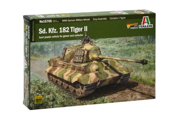 1:56 Scale Italeri Sd. Kfz. 182 Tiger ll Tank Model Kit #