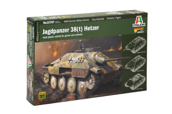 1:56 Scale Italeri Jagdpanzer 38(t) Hetzer Tank Model Kit #
