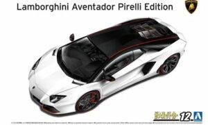 1:24 Scale Aoshima Lamborghini Aventador Pirelli Edition