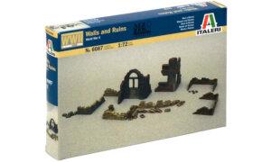 1:72 Scale Italeri WW2 Diorama Models – Walls and Ruins #