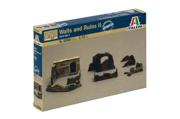 1:72 Scale Italeri WW2 Diorama Models – Walls and Ruins II #