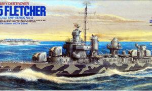 1:350 Scale Tamiya US Navy Destroyer USS Fletcher DD-445 Model Kit #