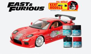 1:24 Scale Fast & Furious Dominic Toretto 1993 RX-7 Paint Bundle