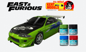 1:24 Scale Fast & Furious Brian O'Connors Mitsubishi Eclipse Paint Bundle