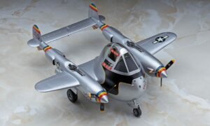1:Egg Hasegawa P-38 Lightning Eggplane Series Model Kit #