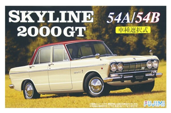 1:24 Scale Fujimi Nissan Skyline 2000GTB S54B Model Kit #