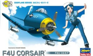 1:Egg Hasegawa Chance Vought F4U Corsair Eggplane Series Model Kit #