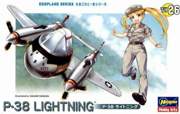 1:Egg Hasegawa P-38 Lightning Eggplane Series Model Kit #