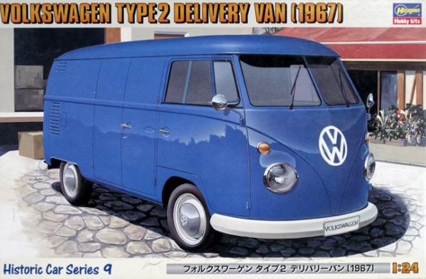 1:24 Scale Hasegawa Volkswagen Type2 Delivery Van 1967 Model Kit