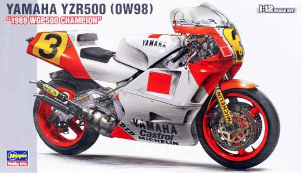 1:12 Scale Hasegawa Yamaha YZR500 (0W98) 1988 WGP500 Champion Model Kit