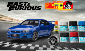 1:24 Scale Fast and Furious 4 Brian O'Conner Bayside Blue R34 Skyline Bundle