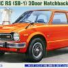 1:24 Scale Hasegawa Honda Civic RS (SB-1) 3Door Hatchback (1974) Model Kit