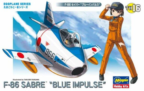 "1:Egg Hasegawa F-86 Sabre ""Blue Impulse"" Eggplane Series Model Kit #"