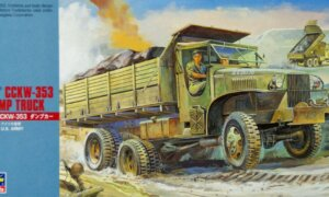 1:72 Scale Hasegawa G.M.C. Dump Truck Military Vehicle Model Kit #
