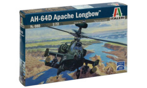 1:72 Scale Italeri AH - 64 D Apache Longbow Helicopter Model Kit