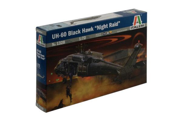 """1:72 Scale Italeri UH - 60 Black Hawk """"Night Raid"""" Helicopter Model Kit"""