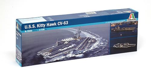 1:720 Scale Italeri USS Kitty Hawk CV - 63 Model Kit #
