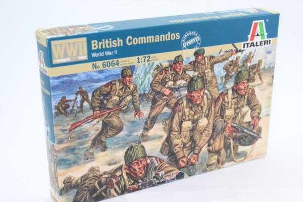 1:72 Scale Italeri WW2 Diorama Models – British Commandos #