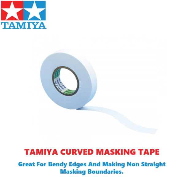 Tamiya Masking Tape For Curves 3 Different Sizes To Choose #