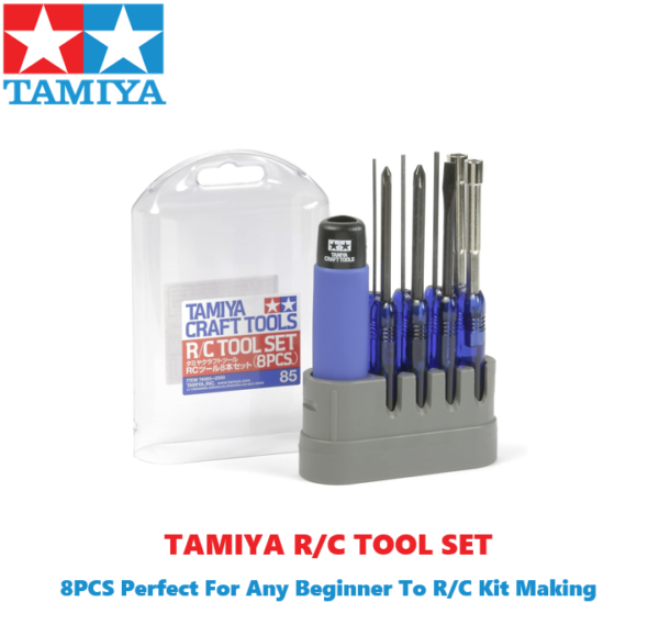 Tamiya 8 Piece Tool Set For Radio Control Kits #