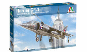 1:72 Scale Italeri RAF HARRIER GR.1 Transatlantic Air Race 50th Ann. Model Kit