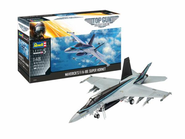 1:48 Scale Revell Top Gun Maverick's F/A-18E Super Hornet Model Kit