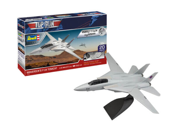 1:72 Scale Revell Top Gun Maverick's F-14 A Tomcat Easy Click Model Kit