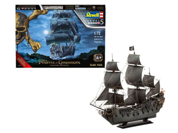 1:72 Scale Pirates of the Caribbean Black Pearl Model Kit