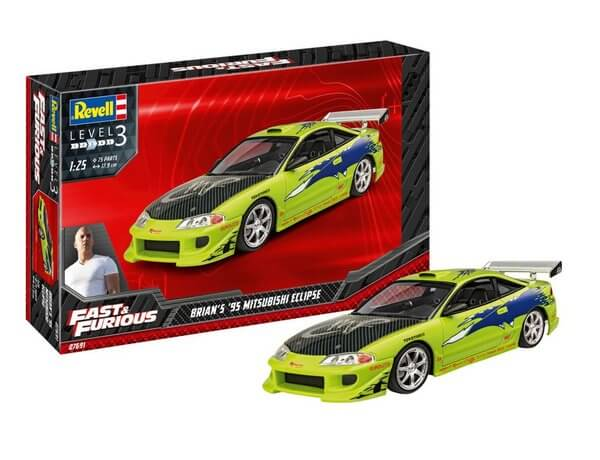 1:24 Scale Revell Fast & Furious Brian's Mitsubishi Eclipse Model Kit