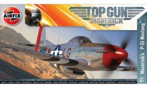 1:72 Scale AirFix Top Gun Mavericks P-51D Mustang Model Kit